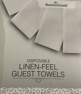 BloominGoods Disposable Guest Towels Linen Feel NEW 100