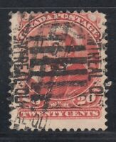 "Canada Scott #46  20 cent vermilion ""Small Queen"" F **"