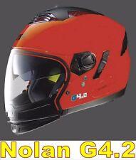 """CASCO NOLAN GREX G4.2 N-COM  EX N43E AIR ROSSO CORSA COL.9 Tg. """"M"""""""