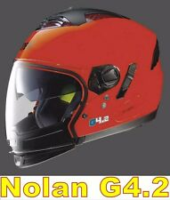 "CASCO NOLAN GREX G4.2 N-COM  EX N43E AIR ROSSO CORSA COL.9 Tg. ""S"""