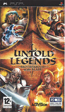 UNTOLD LEGENDS BROTHERHOOD OF THE BLADE for PSP - with box and manual