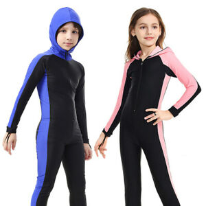 SBART Kids Diving Wet Suit Children Long Sleeve Surfing Swimwear UV Protection