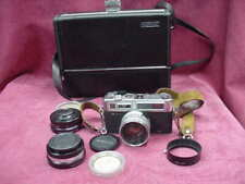 Yashica Electro 35 GS with Wide Angle, Telephoto, Flash, Filter, Strap & Case