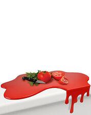 Mustard Splash Chopping Board Wet Liquid Blood Red Cutting Board Designer Gift