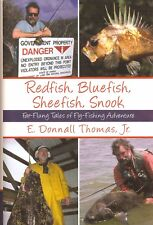 THOMAS E DONNALL FLY FISHING BOOK REDFISH BLUEFISH SHEEFISH SNOOK hardback NEW