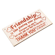 Personalised Friendship Sign Best Friend Plaque Gift Shabby Heart Present 6A