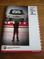 ABARTH NEWS AND CATALOGUE BROCHURE, NO 4 2012
