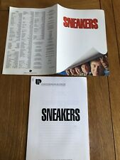 Complete sneakers 1992 Genuine Promotional Press Kit Synopsis