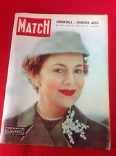 Vintage French Magazine : PARIS MATCH : No 315. 09 - 16 Apr 1955