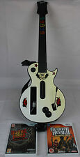 Nintendo Wii Guitar Hero White Gibson Les Paul With Games