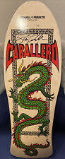 Powell Peralta Skateboard Deck Caballero Chinese Dragon Natural Re-Issue Signed