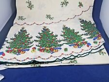 CHRISTMAS TREE Tablecloth Round (IVORY) 70""