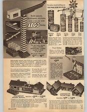 1962 PAPER AD Lego Toy Bricks Tinkertoys Magnastks American Plastic Wood Logs