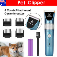 Rechargeable Dog Clippers Grooming Clipper Cat Pet Hair Trimmer Comb Shaver