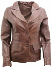 Leather Blazer Dry-clean Only Coats & Jackets for Women
