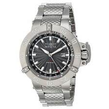 Invicta 21727 Men's Subaqua Gunmetal Dial GMT Steel Bracelet Watch