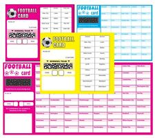 More details for football scratch cards fundraising team cards scratch panel 20 30 40 50 80 team