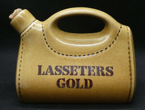 Lasseters Gold Ceramic 500ml Bottle by Elischer Made for AE & F Tolley