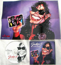 Michael Jackson 5 Five J5 THE LOVER Compilation CD Rockcartoon Poster 1998