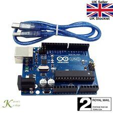 Arduino Uno R3 ATMega328P MEGA16U2 Compatible Microcontroller Board & USB Cable