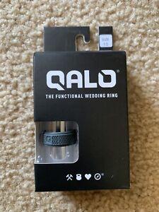 New Qalo Men's Functional Wedding Ring Silicone Size 10 Dark Grey