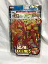 Marvel Legends HUMAN TORCH SERIES II NIB WITH COMIC BOOK & MOUNT 2002