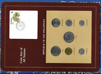 Coin Sets of All Nations Philippines w/c 1,2 Piso 50,25,10,5,1 Sentimo 1989 UNC