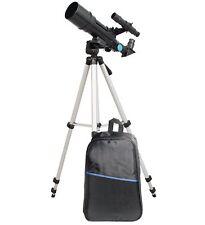 TwinStar 60mm Compact Refractor Telescope Backpack Bundle - Black