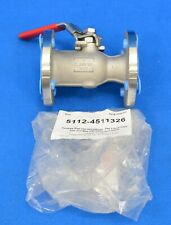 """Keckley 1"""" Flanged Stainless Steel Inline Ball Valve Bvf1Rf2Rssrgsl-100"""