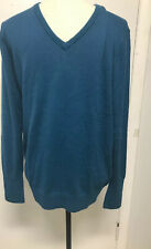 Port Authority Womens V Neck Sweater Size Large New Blue