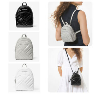 Michael Kors Abbey Quilted Patent Leather MiniBackpack Crossbody