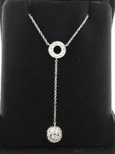 Tiffany & Co Diamond Double Circlet Pendant Necklace in Platinum 0.45 Tcw
