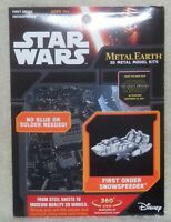 2015 Star Wars First Order Snowspeeder Metal Earth 3D Metal Model Kit New