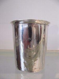 1850 french sterling silver minerve large flat bottomed beaker 89g 3,14oz