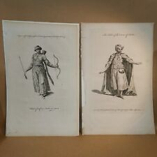 Interior Decoration: mid 1700s costume engravings: Tartar and Dervise (Dervish)