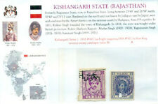 Indian State- Kishangarh Series PC 1 : 1938 #455 2as, 1904 #502 1a king revenue
