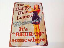 Su cerveza:30 en algún lugar de Metal Cartel Bar Pub Taberna De Pared Vintage signo Tin Placa
