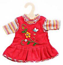 Puppen Kleidung peppiges Kleid Puppen Trägerkleid Heless für 28 - 33 cm Puppen