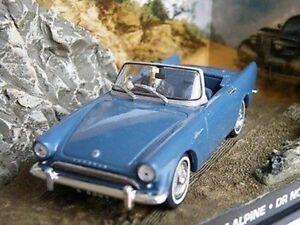 SUNBEAM ALPINE CAR MODEL 1:43 SIZE OPEN TOP BLUE 2 DOOR SPORTS JAMES BOND Y06