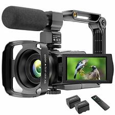 4K Video Camera Camcorder YouTube Vlogging 48MP UHD WiFi IR Night...