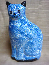 BLUE SPLATTER Ceramic CAT BANK