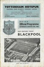 Football Programme>TOTTENHAM HOTSPUR v BLACKPOOL Mar 1965
