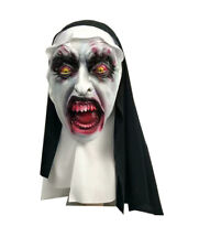 The Nun Valak Mask Latex Mask W/Hood Halloween Nun Headdress Habit