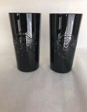 Polo Ralph Lauren Ayers Black Crystal Highball Skull Crossbones Glasses Set Of 2