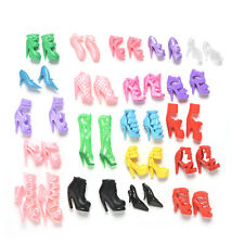 Cute 40 Pcs/20 Pair Slap-up Fashion High-Heeled Shoes For Barbie Dolls 7NX