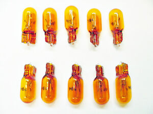 Box of 10 Amber Incandescent 194A Parking Side Marker Lights Bulbs Lamps Ford