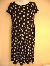 Polyester Short Sleeve Spotted Dresses Size Petite for Women