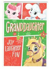 DISNEY PALACE PETS GRANDDAUGHTER HALLMARK Christmas Greeting Card Envelope MG14