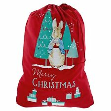Beatrix Potter A29395 Peter Rabbit Red Christmas Sack Bag