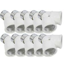 LOT10 E27 to 2x E27 Led CFL Light Lamp Bulb Adapter Converter Socket Splitter